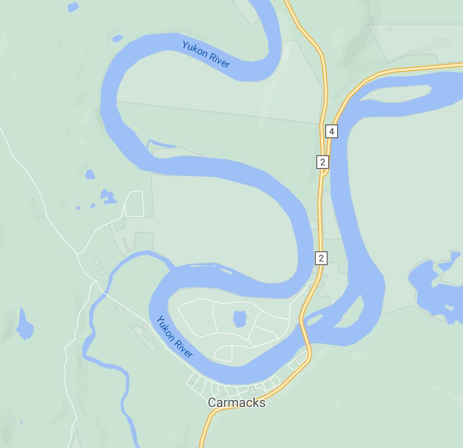 Map of Carmacks Area